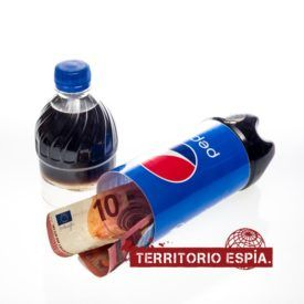 botella de refresco con hueco secreto