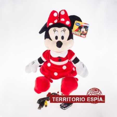 minnie mouse con mini cámara espía