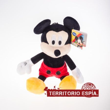 mickey mouse con mini cámara espía